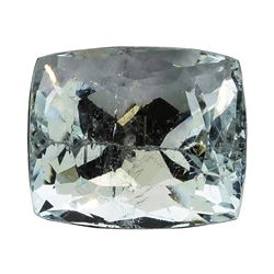 7.66 ct.Natural Cushion Cut Aquamarine