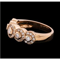 0.60 ctw Diamond Ring - 14KT Rose Gold