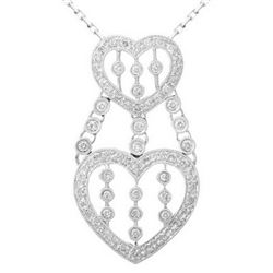 18k White Gold 0.70CTW Diamond Pendant, (SI3-I1/H-I)