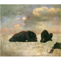 Grizzly Bears by Albert Bierstadt