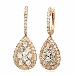 18k Rose Gold 2.29CTW Diamond Earrings, (VS/G)