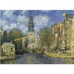 Claude Monet Zuiderkerk At Amsterdam