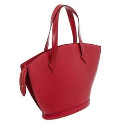 Louis Vuitton Red Epi Leather St Jacques PM Shoulder Bag