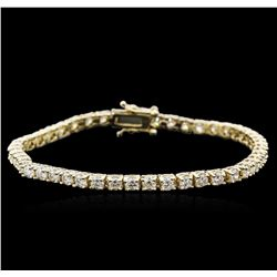 14KT Yellow Gold 4.60 ctw Diamond Tennis Bracelet