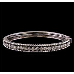 2.30 ctw Diamond Bangle Bracelet - 14KT White Gold