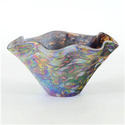 Mini Wave Bowl (Slate) by Glass Eye Studio