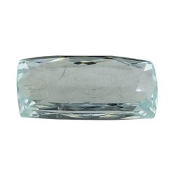 7.91 ct.Natural Cushion Cut Aquamarine
