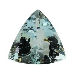 4.13 ct.Natural Trilliant Cut Aquamarine