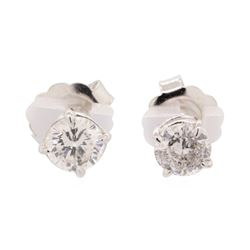 2.08 ctw Diamond Earrings - 14KT White Gold