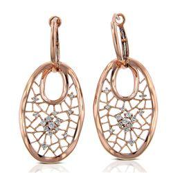 14k Rose Gold  0.31CTW Diamond Earrings