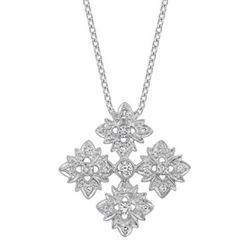 18k White Gold 0.85CTW Diamond Pendant, (SI3-I1/H-I)