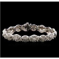 2.53 ctw Diamond Bracelet - 14KT White Gold