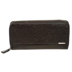 Bvlgari Black Grained Leather Organizer Wallet