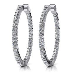 14K Yellow Gold 1.36CTW Diamond Earrings, (SI3 /G-H)