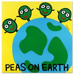 """Peas on Earth"" Limited Edition Lithograph by Todd Goldman, Numbered and Hand Signed with Certificat"