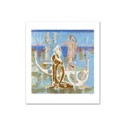 """Rhyme of Sea"" Limited Edition Serigraph (34"" x 38"") by Renowned Artist Lu Hong, Numbered and Hand S"