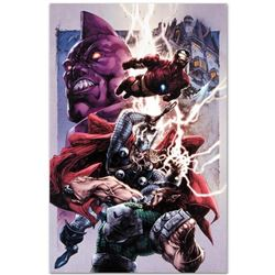 "Marvel Comics ""Iron Man/ Thor #2"" Numbered Limited Edition Giclee on Canvas by Stephen Segovia with"