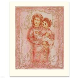 """Millennium Joy"" Limited Edition Lithograph by Edna Hibel, Numbered and Hand Signed with Certificate"
