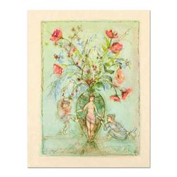 "Edna Hibel (1917-2014), ""Sprites of the Grecian Urn"" Limited Edition Lithograph on Rice Paper, Numbe"