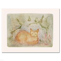 """Pumbit the Cat"" Limited Edition Lithograph by Edna Hibel (1917-2014), Numbered and Hand Signed with"