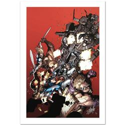 """""""Ultimate Avengers Vs. New Ultimates #1"""" Limited Edition Giclee on Canvas by Leinil Francis Yu and M"""
