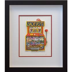 "Charles Fazzino- 3D Construction Silkscreen Serigraph ""Slots of Fun"""