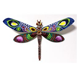"Patricia Govezensky- Original Painting on Cutout Steel ""Dragonfly V"""