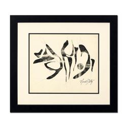 Neal Doty (1941-2016), Framed Original Mixed Media Linocut, Hand Signed with Certificate of Authenti