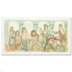 """Solomon's Court"" Limited Edition Lithograph by Edna Hibel (1917-2014), Numbered and Hand Signed wit"