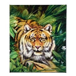 """Tiger Surprise"" Limited Edition Giclee on Canvas by Martin Katon, Numbered and Hand Signed with COA"