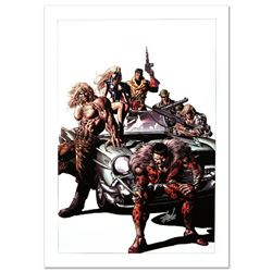 """""""New Avengers #10"""" Limited Edition Giclee on Canvas by Mike Deodato Jr. and Marvel Comics. Numbered"""