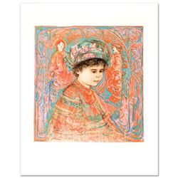 """Boy with Turban"" Limited Edition Lithograph by Edna Hibel (1917-2014), Numbered and Hand Signed wit"