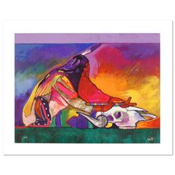 """Calling on the Power of the Buffalo"" is a Limited Edition Giclee on Canvas by John Nieto, Numbered"