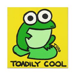 "Todd Goldman, ""Toadly Cool"" Original Acrylic Painting on Gallery Wrapped Canvas, Hand Signed with Ce"