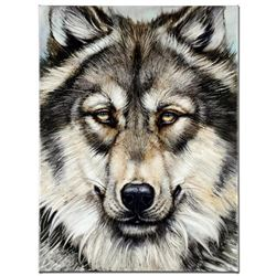 """""""Wonderful Wolf"""" Limited Edition Giclee on Canvas by Martin Katon, Numbered and Hand Signed with COA"""