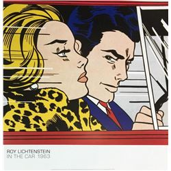 """ROY LICHTENSTEIN """"IN THE CAR"""" OFFSET LITHOGRAPH ON PAPER 1963"""