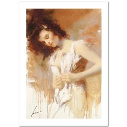 """Pino (1939-2010) """"White Camisole"""" Limited Edition Giclee. Numbered and Hand Signed; Certificate of A"""