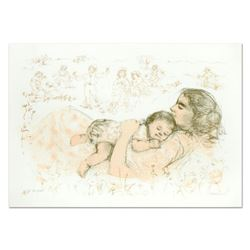 """Edna Hibel (1917-2014), """"Next To My Heart"""" Limited Edition Lithograph, Numbered and Hand Signed with"""