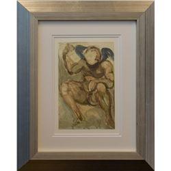 "Salvador Dali- Original Color Woodcut on B.F.K. Rives Paper ""Purgatory Canto 15"""