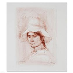 """""""Magda"""" Limited Edition Lithograph by Edna Hibel (1917-2014), Numbered and Hand Signed with Certific"""