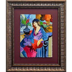 "Patricia Govezensky- Original Watercolor ""An Artist's Perspective"""
