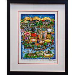 "Charles Fazzino- 3D Construction Silkscreen Serigraph ""There's Music... New Jersey, New York, Long I"