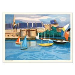 """Georges Lambert (1919-1998), """"St. Malo"""" Limited Edition Lithograph, Numbered and Hand Signed."""