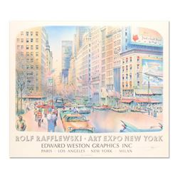 """Rolf Rafflewski, """"Art Expo NY"""" Lithograph, Hand Signed with Letter of Authenticity."""