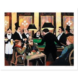 """Guy Buffet, """"Billiards"""" Limited Edition Serigraph; Numbered and Hand Signed with Certificate of Auth"""