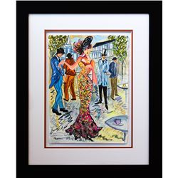 "Patricia Govezensky- Original Watercolor ""Pardon Me Maddam"""