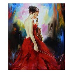 "Taras Sidan- Original Oil on Canvas ""Classic Girl"""