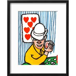"Alexander Calder ""Derrier le Mirroir, no. 212: Joueurs De Cartes II"" Custom Framed Lithograph"