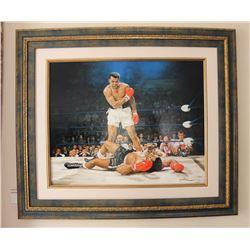 "Yevgeniy Korol- Original Oil on Canvas ""Ali vs. Liston"""