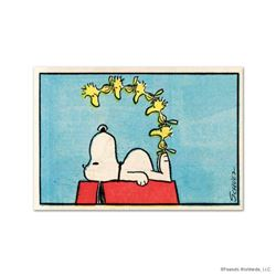 """Peanuts, """"Friends"""" Hand Numbered Limited Edition Fine Art Print with Certificate of Authenticity."""